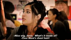 """She was always ready with a comeback. 19 Reasons Janis Ian Was The Best Part Of """"Mean Girls"""" Best Mean Girls Quotes, Mean Girl 3, Mean Girls Janis, Good Comebacks, Awesome Comebacks, Favorite Movie Quotes, Favorite Things, Girl Day, Great Movies"""
