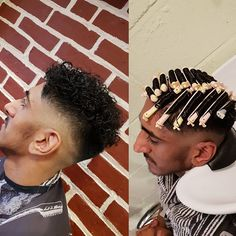 Mens Hair Haircuts Fade Haircuts short medium long buzzed side part lon Permed Hairstyles, Popular Hairstyles, Men's Hair, Hair Art, Mens Perm, Mens Hair Trends, Bald Fade, Perms, Bowl Cut