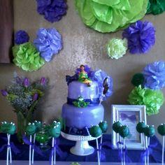 Princess and the frog cake table