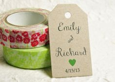 Favor Tags  Name Tags Wedding Favor Tags Gift by WeddingAmbience, $11.25