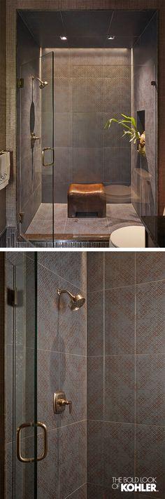 Guest bath interior design inspiration - a beautiful shower experience.