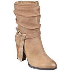 Guess Tamsin Fringed Leather Ankle Boots ($68) ❤ liked on Polyvore featuring shoes, boots, ankle booties, beige, leather bootie, ankle boots, fringe bootie, short leather boots and leather booties