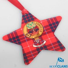 Hamilton Clan Crest Christmas Ornament