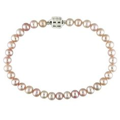 4-5mm Cultured Freshwater Pink Pearls Baby Bracelet w/Sterling Silver Amour. $29.99