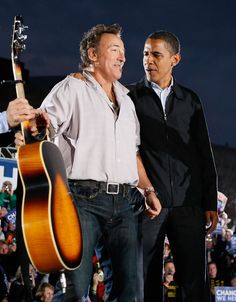 Bruce Springsteen - Obama Campaigns Across The U.S. In Final Week Before Election