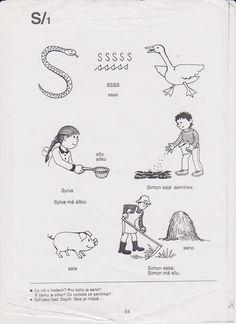 S - na začátku slova Psp, Logos, A Logo, Legos