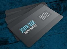 50 business card templates psd and ai free download card clean and simple business card design on blackgray layout and whiteblue color text suitable for any business or personal use flashek Gallery