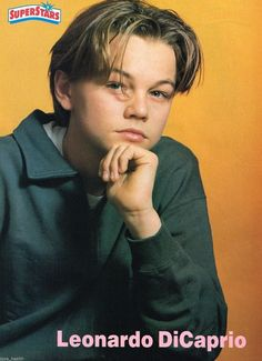 The time he gave us the all-important hand under the chin pose: | The 19 Most Important Leonardo DiCaprio Teen Pinup Poses Of The '90s