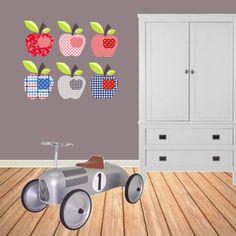 Kinderkamer behangfiguren appel