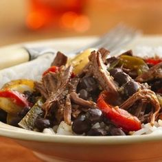 Slow-Cooker Cuban Flank Steak is easy and full of flavor!