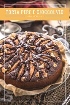 whole grain #vegan #glutenfree pear #chocolate cake refined sugar free - TORTA PERE e #CIOCCOLATO vegan #senzaglutine senza burro senza uova leggera facile integrale senza zucchero raffinato - www.beautyfoodblog.com
