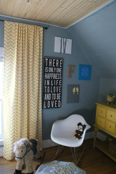 Take a look at our hip yellow baby room. Get more decorating ideas at http://www.CreativeBabyBedding.com