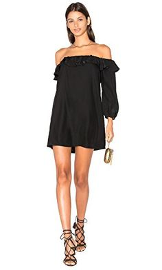 AMANDA UPRICHARD Womens JOANNA Off Shoulder Mini Dress Sz L 270090E Black ** Details can be found by clicking on the affiliate link Amazon.com.