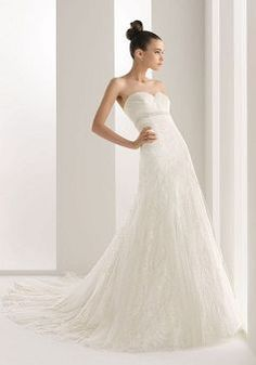 Popular Tulle Sweetheart A line Spring Chapel Train Bridal Dresses - Lunadress.co.uk