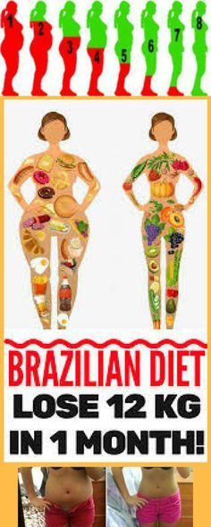 DISCOVER : New Brazilian Diet – Lose 12 kg in 1 Month! – Healthy Food And Sport Tips