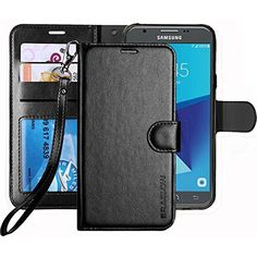 Galaxy J7 V / Perx Sky Pro Prime 2017 Halo Case , Luxury PU Leather Wallet Flip #Doesnotapply