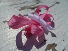 Handmade Butterfly Ribbon Hair Clip by fitforprincess on Etsy, $4.50