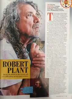 Robert Plant interviewed in the latest issue of Q Magazine, 2017