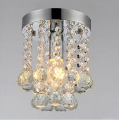 49.50$  Buy here - http://alik91.worldwells.pw/go.php?t=32683171047 - Metal plating hall aisle lights corridor square Ceiling Lighting Crystal Light Single Head lamps for the living room 49.50$