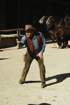 "1962 rodeo photos | Film homage, Kirk Douglas, ""Lonely Are the Brave,"" 1962, Old Tucson ..."