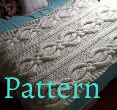 Twisted Cable Knit Blanket