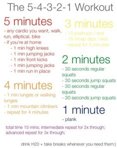 54321 workout at home.