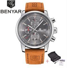 BENYAR Fashion Chronograph Sport Mens Watches Top Brand Luxury Quartz Watch  Reloj Hombre 2016 Clock Male hour relogio Masculino Like if you remember  Visit ... 50f703fa5e