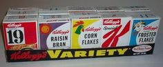 variety packs of cereal, used to beg my mom to buy these and she thought they were a big waste a money! To us, they were special!
