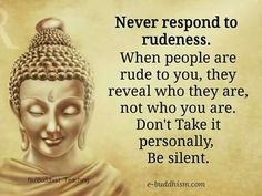 True.  It is best to neither react to  nor acknowledge rudeness.