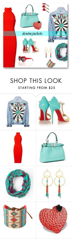 """Hearts & Darts"" by metter1 ❤ liked on Polyvore featuring Christian Louboutin, Jay Godfrey, Fendi, INDIE HAIR, Devon Leigh, Mishky and Fontanelli"