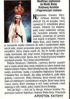 Modlitwa codzienna do Matki Bożej. Music Humor, Prayer Quotes, Madonna, Animals And Pets, Catholic, Prayers, Spirituality, Faith, Education