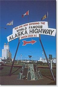 Dawson Creek BC, Alaska Highway 97, Northern British Columbia, Canada