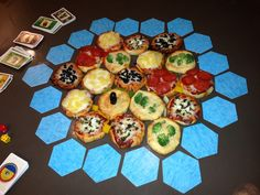 Our Settlers of Catan pizza creation! It was delish!