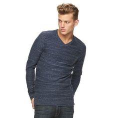 NEW Men's Rock & Republic V-Neck Sweater NAVY Size Large MSRP $50 NWT Bin 11 #RockRepublic #VNeck