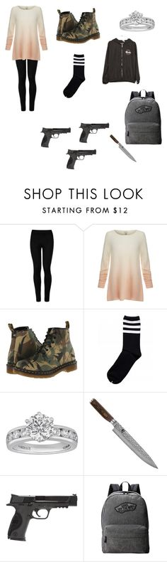 """""""Apocalypse11"""" by emilypaul0400 on Polyvore featuring Wolford, Joie, Dr. Martens, Tiffany & Co., Shun, Smith & Wesson and Vans"""