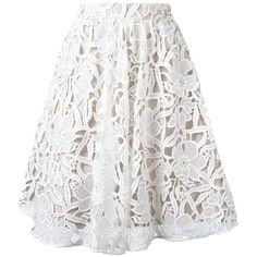 Alice+Olivia floral lace skirt (30.090 RUB) ❤ liked on Polyvore featuring skirts, white, flower print skirt, lace skirt, white lace skirt, patterned skirts and floral pattern skirt