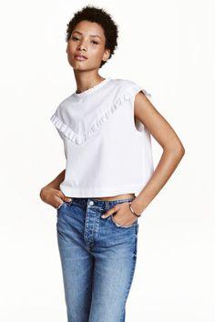 Blusa de algodón con volantes | H&M