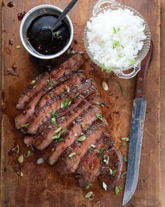 Soy Ginger Flank Steak. Made this last night but with venison round steaks. Delicious! The glaze would make a great marinade.