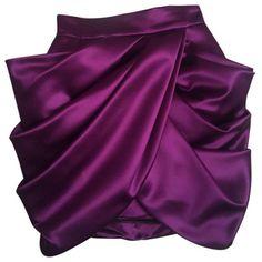 Purple Silk Skirt BALMAIN ($655) ❤ liked on Polyvore featuring skirts, balmain skirt, purple skirt, silk skirt and balmain