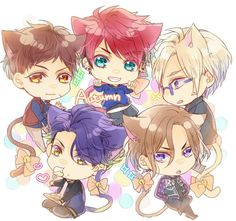 Chibi! Neko! Autumn Troupe Chibi Boy, Cute Chibi, Anime People, Anime Guys, Chibi Characters, Anime Crossover, Cute Anime Character, Manga, Neko