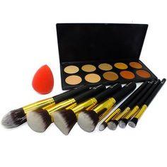 Gold Contour Makeup Set