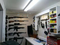 Gun vault room pic 2 of 9 - using Gun Cradles from Gun Storage Solutions