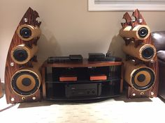 THE ELEMENTS  custom made studio monitors with Focal drivers and AVI subs..