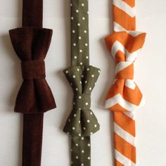Set of 3 Classy Bow Ties for Boy on Etsy, $25.00