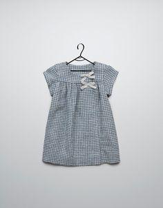 vestido cuadros con lacitos - Vestidos - Bebé niña (3-36 meses) - Niños - ZARA España