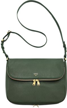 $198, Preston Leather Flap Shoulder Bag by Fossil. Sold by Macy's. Click for more info: http://lookastic.com/women/shop_items/93793/redirect