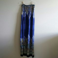 "Boho maxi dress Just beautiful.  Full length of dress is 51"". Bailey blue Dresses Maxi"