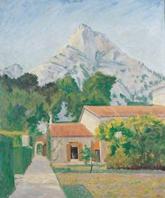 Winston Spencer Churchill - Cap d'Ail (View from the Garden of Capponcina)