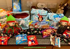 The elves replaced the kids lunchboxes, pencil cases and my daughter's school bag with Christmas themed lunchbags, christmas pencil cases filled with christmas stationery, christmas themed packed lunch treats. The Elf, Elf On The Shelf, Woodland Elf, Christmas Stationery, Pencil Cases, Father Christmas, Magical Creatures, Family Traditions, Christmas Themes