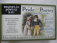 Jane Austen Pride & Poetry Word Magnets Kit Made in USA NEW NIB